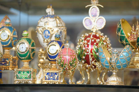 Group Faberge eggs photo
