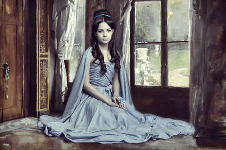 Young victorian lady Stock Photo - 14190851
