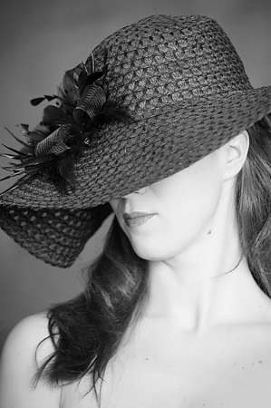 The woman in a wide-brimmed hat  photo