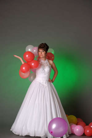 Bride with balloons photo