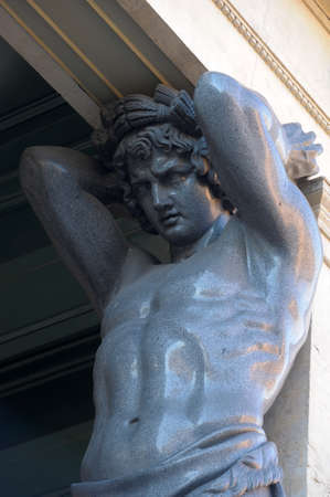 atlantes: Sculptures of atlantes in St -Petersburg, Russia