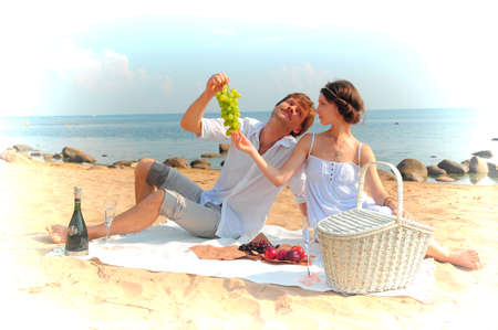 Couple having romantic picnic Stock Photo - 14195659