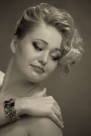 Retro jewelry woman Stock Photo - 14215247