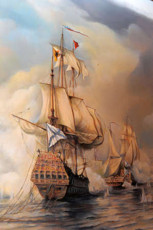 oil paintings: Sailing vessel