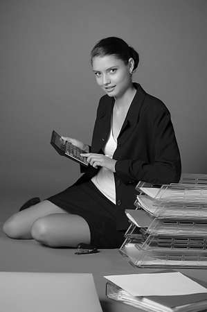 Young secretary or businesswoman photo