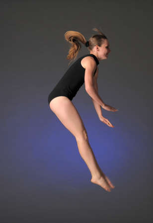 gymnast in mid-air Stock Photo - 17061268