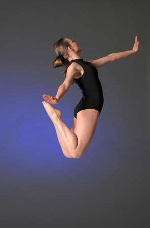 gymnast in mid-air Stock Photo - 17061263