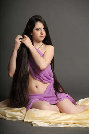 young woman luxurious long hair Stock Photo - 18184160