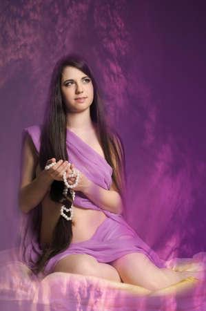 young woman luxurious long hair Stock Photo - 18184165