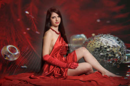 young woman luxuus long hair Stock Photo - 18184146