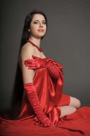 young woman luxurious long hair Stock Photo - 18184155