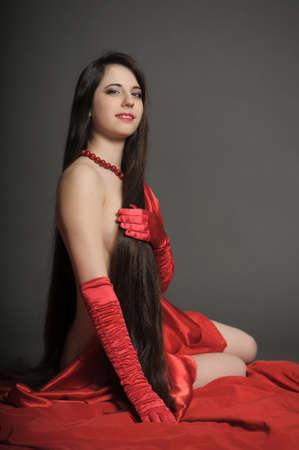 young woman luxurious long hair Stock Photo - 18184145