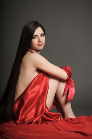 young woman luxurious long hair Stock Photo - 18184115