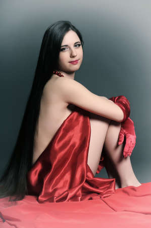 young woman luxuus long hair Stock Photo - 18184170