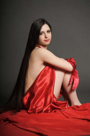 young woman luxurious long hair Stock Photo - 18184156