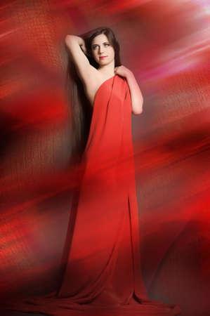 young woman luxurious long hair Stock Photo - 18173253