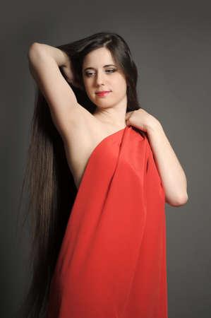 young woman luxurious long hair Stock Photo - 18184116