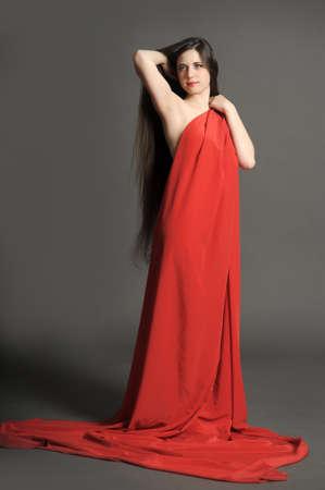 young woman luxurious long hair Stock Photo - 18173288