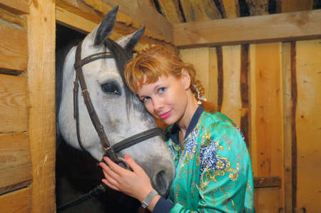 girl in the stables photo