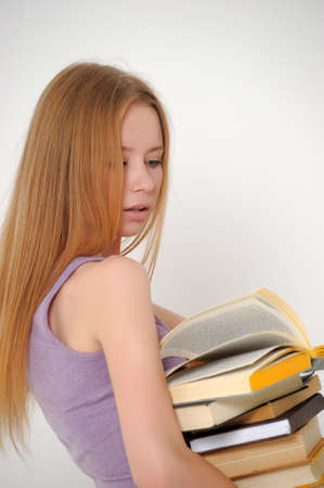 student with books Stock Photo - 14323408