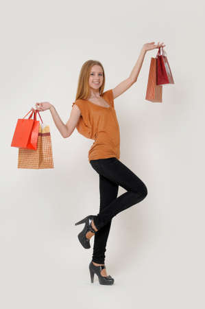 woman with shopping Stock Photo - 14323428