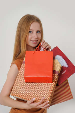 woman with shopping Stock Photo - 14323435