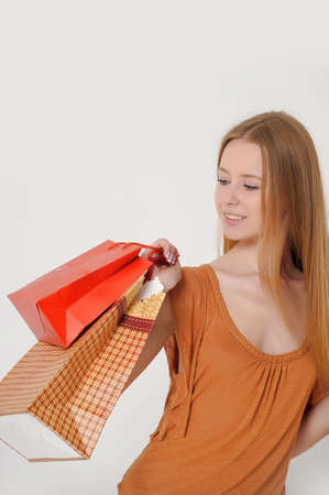 woman with shopping Stock Photo - 14323436