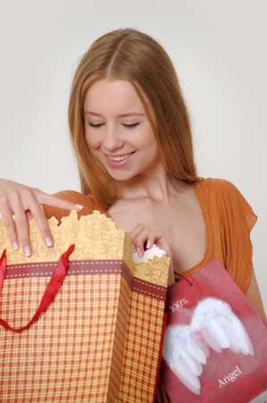woman with shopping Stock Photo - 14323434