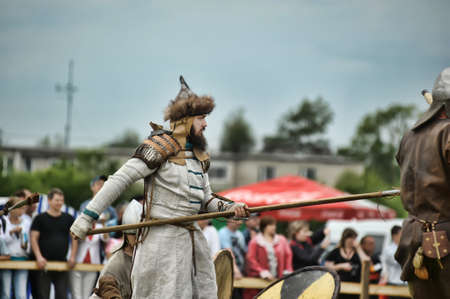 cross armed: The museum-preserve Old Ladoga (Leningrad, Volkhov district,. Staraya Ladoga) annual military-historical festival early Middle Ages First Capital of Russia.