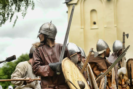 feudal: The museum-preserve Old Ladoga (Leningrad, Volkhov district,. Staraya Ladoga) annual military-historical festival early Middle Ages First Capital of Russia.