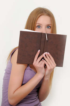 Look behind the book Stock Photo - 15036507