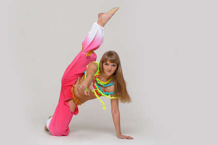 flexible woman: girl gymnast