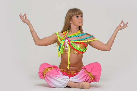 dancer belly dancing photo