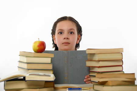 College student girl with books Stock Photo - 14494728