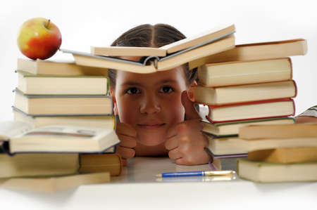 College student girl with books Stock Photo - 14494729