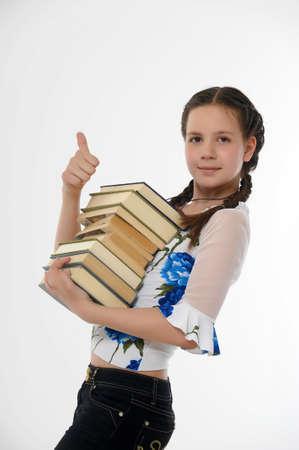 uniformes de oficina: Colegio chica estudiante con los libros