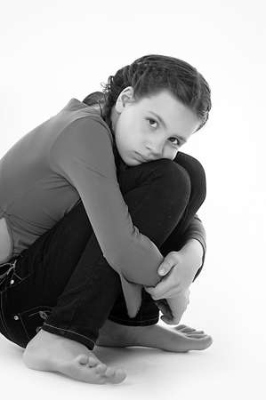 dissappointed: the girl teenager in the depression Stock Photo