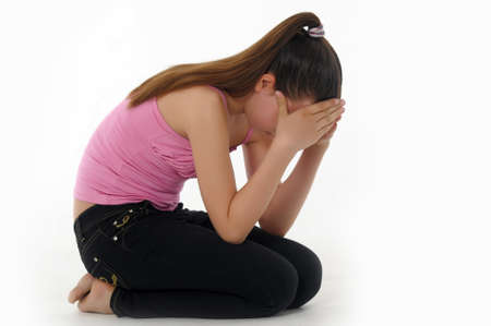 girl teenager upset  Stock Photo - 14494666