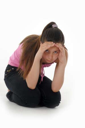 ashamed: chica adolescente trastornado