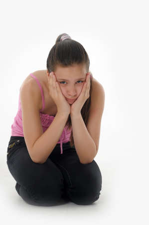 girl teenager upset  Stock Photo - 14494674