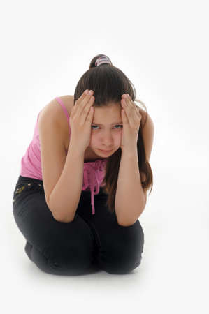 girl teenager upset  Stock Photo - 14494670