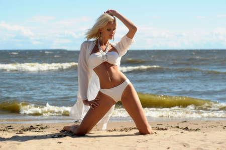 Beautiful girl on beach Stock Photo - 14995991