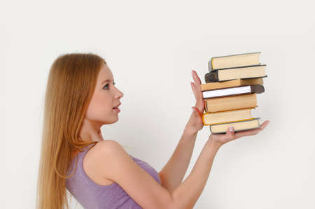 student with books photo