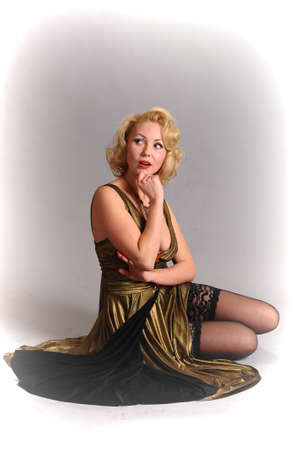 blond in retro style Stock Photo - 14749626