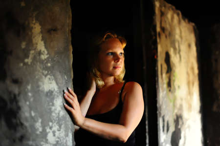 Girl on ruins photo