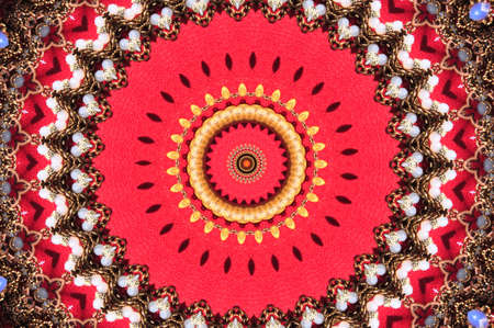 liane: red circular ornament Stock Photo