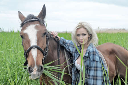 cute young farm girl: Gorgeous Horserider