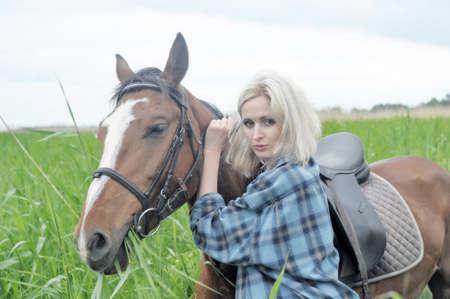 Gorgeous Horserider Stock Photo - 15041307
