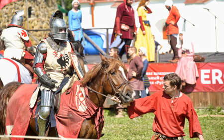 showmanship: Festival of medieval knighthood  Russian fortress - 2012