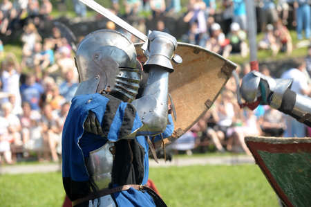 reenacting: Festival of medieval knighthood  Russian fortress - 2012